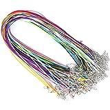 SUPVOX - 10 collane in cera con cordoncino con chiusura per collana, ciondolo girocollo per fabbricazione di gioielli, colori