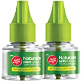 Good Knight Naturals – Neem Mosquito Repellent with 100% Natural Active Ingredients (Safe for Kids and Adults), Pack of 2 Ref