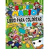 Super Mario Libro Para Colorear: Genial Super Mario Bros Libro Para Colorear Con Fantásticas Imágenes Para Niños De 4 a 8 Año