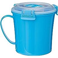 Sistema SI21107-2 Tasse à soupe, Plastique, Bleu, 14,2 x 11,4 x 11,9 cm