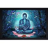 SAF Buddha Vastu UV Coated Home Decorative Gift Item Framed Painting 14 inch X 20 inch SANFM6621