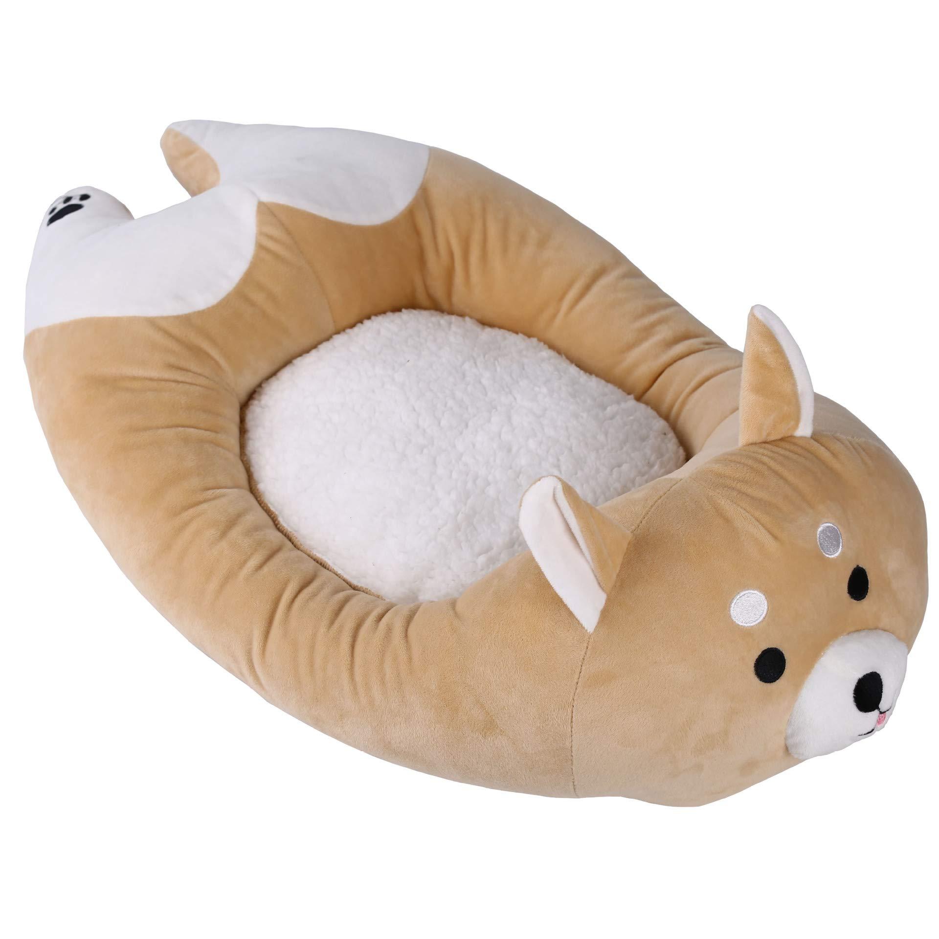 HAOHUI Shiba Inu Cartoon Cute Kennel Four Seasons Universal Cat Litter Pet Bed Pet Supplies28.74X15.74X3.14Inch