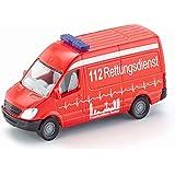 SIKU 0805, Ambulancia, 1:87, Metal/Plástico, Rojo, Versátil, Vehículo de juguete para niños