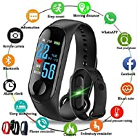 Aqisha Store M3 Smart Fitness Activity Tracker with Waterproof Body with Vibration New Edition for Smartphones
