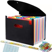 Trieur A4 range document, Classeur Rangement 24 Compartiments, Chemise Papier Administratif, Documents Organiseur de…