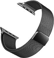 Microsonic Apple Watch 1 42mm Milanese Loop Version 3 Kordon Siyah
