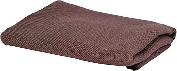 JUTE N FABRICS,Laminated Coffe Brown Color Jute Fabric, 48 INCH Width Five MTR Packing, Used for Making Jute Bags, Art & Craft,Home DECORE, Matting