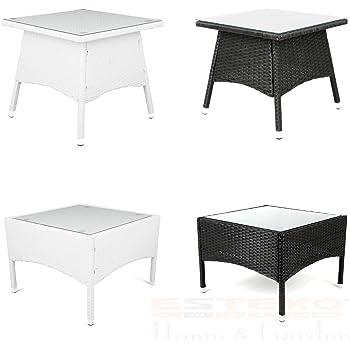 Gartentisch rund rattan  Amazon.de: Polyrattan Tisch - versch. Größen Beistelltisch Rattan ...