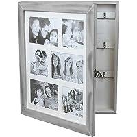 Wohaga Armoire à clés/Armoire à Bijoux avec galerie de Photos pour 6 Photos 10x10cm 15x10cm, boîte à Bijoux, Coffre à…