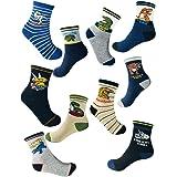 Calcetines de dinosaurio para niños de 4 a 7 años de edad, el mejor regalo para niños de 7 a 10 años, calcetines de algodón p