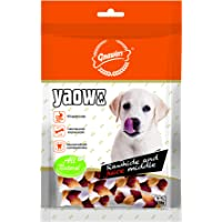 Gnawlers Yaowo Rawhide Braided Bone Filled with Chicken Inside, 220 g