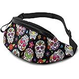 Bauchtasche für Männer und Frauen, weiche, leichte Hüfttasche mit Kopfhöreranschluss und Reißverschluss, verstellbarer Gurt f
