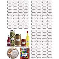 Angel Bear Vinyl Waterproof Vinyl Stickers - 108 Pieces, White, 7cm by 4cm (YSJARSTICKERS108WHITE)