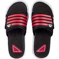 ADDA Senate-4 Men's Black/Red PVC Slides