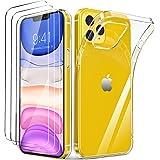 LK Compatible avec iPhone 12 6.1 Pouce,3 Pi/èces Verre Tremp/é et 3 Pi/èces Cam/éra Arri/ère Protecteur,Double Protection Protecteur /écran