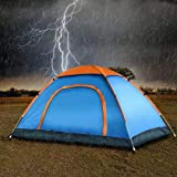 Ritmo Polyester 6 Person Automatic Instant Pop up Lightweight Backpacking Dome Camping Tent with Removable Waterproof Trap wi