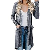 FRAUIT Cardigan Donna Cotone Leggero Giacca Elegante Lunga con Bottoni Giacche Tumblr Ragazza Lunghe Maglione Lungo…