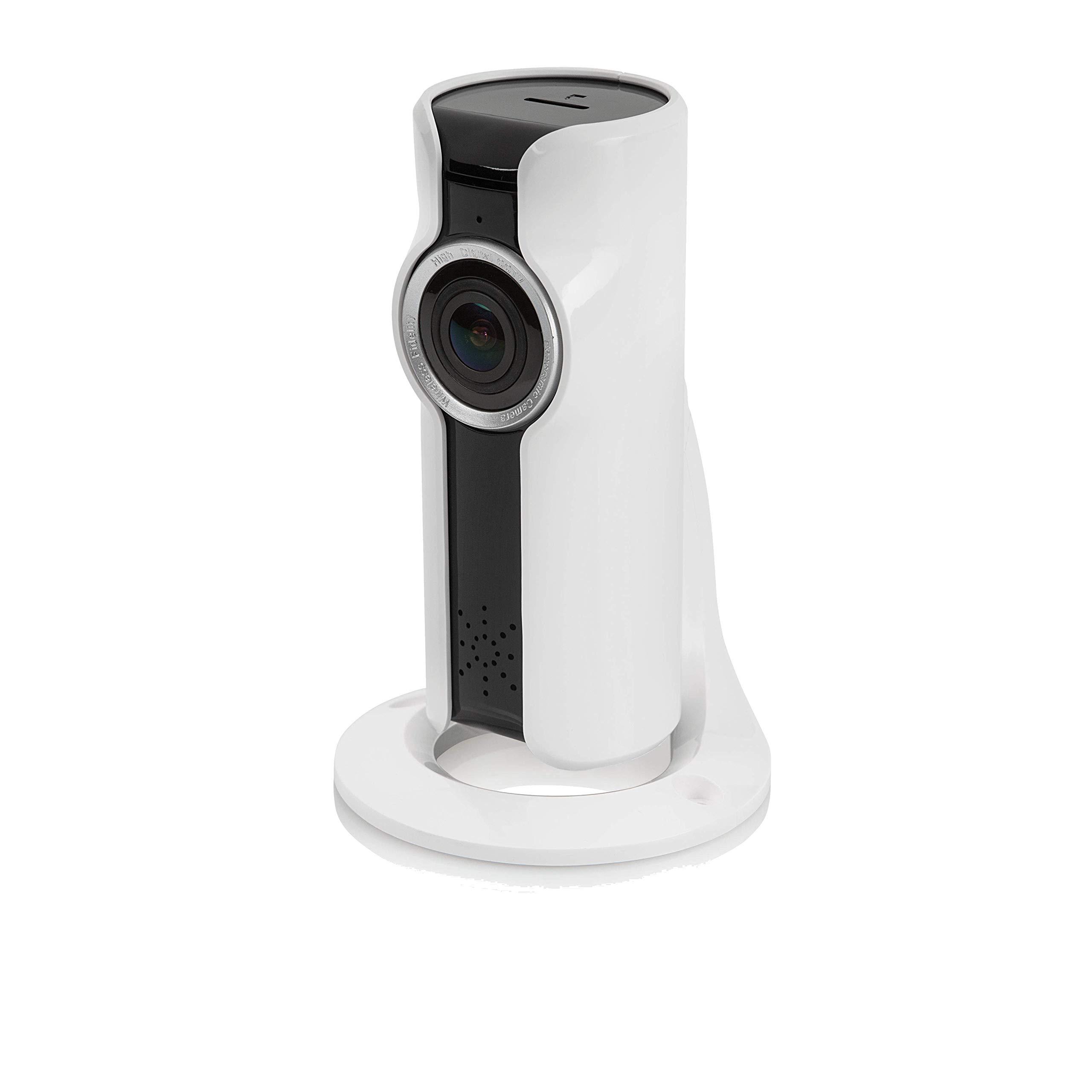 SEC24 CAM180 – sans Fil Caméra de sécurité Intérieure Objectif panoramique (180 degrés) – Écoutez, voyez Parlez – Vision Nocturne (10m) – Stockage d'images jusqu'à 128 Go – Compatible iOS Android