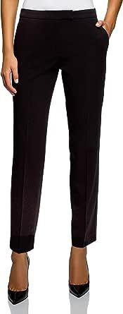 oodji Collection Donna Pantaloni Basic Stretti