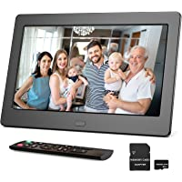 Digitaler Bilderrahmen 7 Zoll mit 32GB SD, Bilderrahmen Elektronisch mit Fernbedienung, Einfach zu verwenden, Videos…