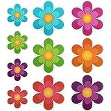 TOPBATHY 10 pcs Antideslizante Pegatinas baño Colorido de Flores Tiras de Adhesivo de Seguridad Autoadhesivas Etiquetas para