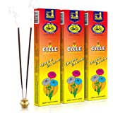 Cycle Pure Three in One Agarbathies Classic Incense Sticks with Woody, Spicy, powdery, Fancy, Lily, Intimate, Oriental, perfumic, Bouquet- Pack of 3