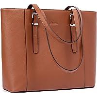 BROMEN Leder Handtaschen Damen 15.6 Zoll Laptoptasche Damen Shopper Schultertasche Groß Businesstasche Arbeitstasche für…