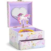 JewelKeeper - Portagioie Musicale con Unicorno Girevole, Arcobaleno e Stelle Glitterato con Cassetto Estraibile…