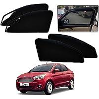 Kozdiko Zipper Magnetic Car Sunshades Curtain Set of 4 Pcs Black Color for Ford Figo Aspire