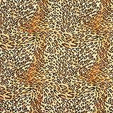 Fabulous Fabrics Jersey Leopard - gelbbraun - Meterware ab