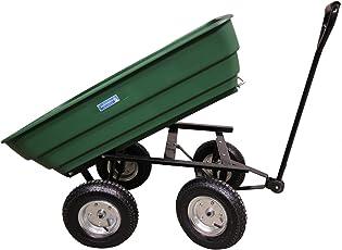1x Profi Gartenkarre Gartenwagen 125 Liter 400 kg Transportwagen Bollerwagen Schubkarre Kippfunktion Lenkachse Baumarktplus