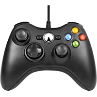 Manette Xbox 360 USB Gamepad Manette Filaire Joypad pour Windows PC/portable/PS3/Smart TV/Tablette Android (Rouge) (Noir…
