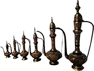 Sf Wall Decorations Brass Aftaba Size : S,L Set of 6