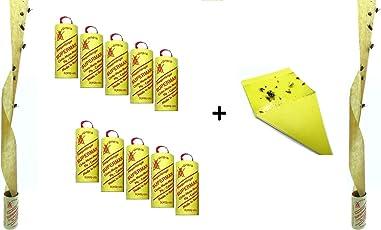 Fliegenfänger Rollen, Insektenfänger,Fliegenfalle, Umweltfreundlich,giftfrei - Made in Germany + 1 Makalu Gelbsticker