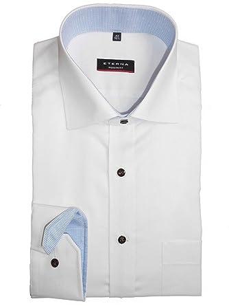 ETERNA Modern Fit Hemd extra langer Arm Patch Oxford weiß AL 68: Amazon.de:  Bekleidung