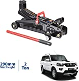Semaphore Hydraulic Trolley Service/Floor Jack with Blow Mold Carrying Storage Case, 2 Ton (4,000 lb) Capacity, Red/Black/Orange for Mahindra Scorpio