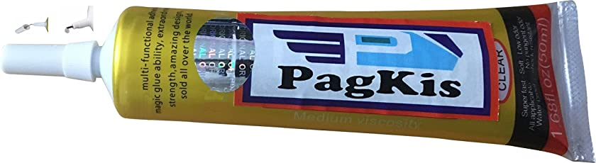 PagKis Multipurpose self leveling Transparent Adhesive glue for Nail, Jewelry, Rhinestone Craft work, Touch Screen of cell phones and many gadgets, DIA Jobs - 50 ml