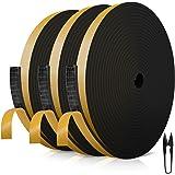 RATEL Zwart Rubber Weatherstrip Foam 12mm*3mm*18m