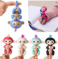 Charmi Color Fingerlings Interactive Baby Monkey Toy for Kids - Random Color