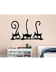 Luke and Lilly Black Cats Design Vinyl Wall Sticker (85 * 55cm)