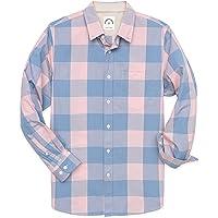 Dubinik Camicie Casual Button-Down A Maniche Lunghe Plaid degli Uomini 100% Cotone Facile Cura Regolare