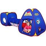 Authentic Maker Tenda Gioco per Bambini,3 in 1 Tunnel Gioco per Bambini Tenda per Bambini Pieghevole Pop Up di Tenda Interno