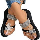 Binggong Y2K skor tofflor damer tår tofflor andas strandskor tofflor sommarskor sandaler rosett flip-flop för utomhus boho st