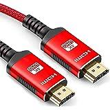 Snowkids 4K HDMI-kabel 4K @60HZ HDMI 2.0 van de anti-slip kabel bijgewerkte versie met 18Gbps HDCP 2.2, 3D UHD Ethernet ARC-c
