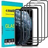 omitium Skärmskydd för iPhone 11 Pro Max/iPhone XS Max, 3 pack [Enkel installationsram] [Fodralvänlig] 9H hårdhet Tempererat