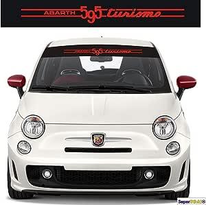 Supersticki Fiat Abarth 595 Turismo Blendstreifen Aufkleber Ca 130cm Aufkleber Sticker Decal Aus Hochleistungsfolie Aufkleber Autoaufkleber Tuningaufkleber Racingaufkleber Rennaufkleber Auto
