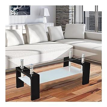 per il divano 110 x 60 x 45 cm piano in vetro nero tavolo tavolo in vetro tavolino dappoggio soggiorno lucido amazonit casa e cucina
