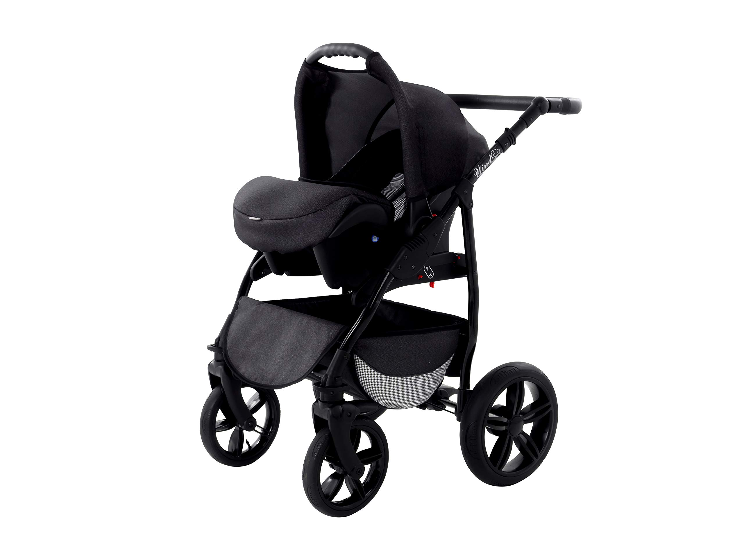 Baby Pram Zeo Wind 3in1 Set - All You Need! carrycot Gondola Buggy Sport Part Pushchair car seat (54) Zeo 3 in 1 combination stroller complete set, with reversible seat units to the buggy, child car seat or baby carriage The baby carriage is suitable for babies from 0 months to 3 years (0-15 kg) Has 360 ° swiveling wheels, four-fold suspension, four-stage backrest, five-position adjustable footrest and a five-point safety belt 9