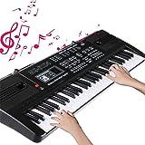 Keyboard Piano Teclado Electrónico Piano 61 Teclas Portátil USB Piano Digital Con Micrófono, Musical Digital Piano para princ