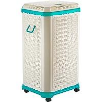 Primeway® Setag XXL Multipurpose Laundry Hamper Utility Storage Bin Basket w/Lid on 4 wheels, 65 Litres, Green